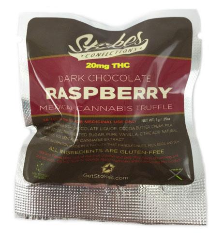 Raspberry cannabis truffle