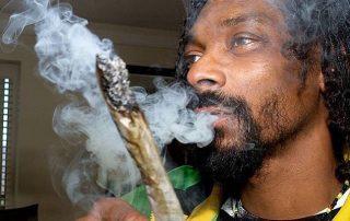 Snoop smokes